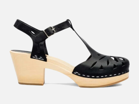 Swedish Hasbeens LACY SANDAL BLACK.