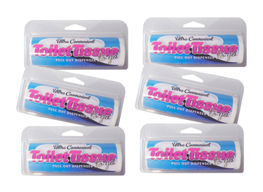 Toilet Tissue To Go - 6 pack by Cotton Buds
