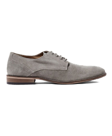 Topman Grey Sharp Derby Shoes