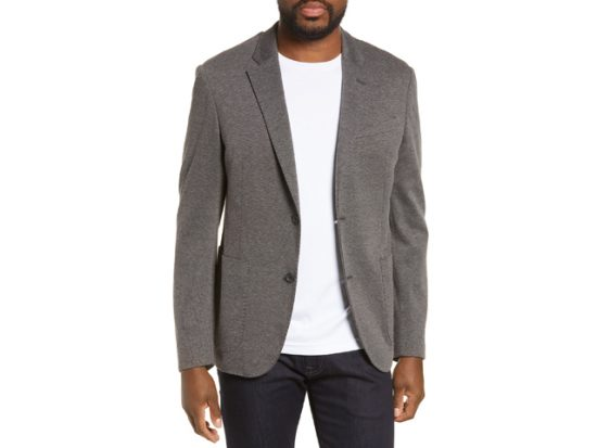 Trim Fit Double Face Ponte Sport Coat NORDSTROM MEN'S SHOP
