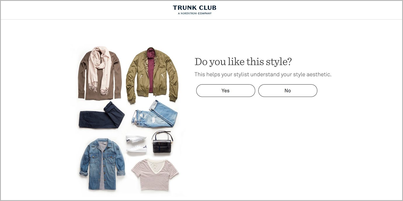 Trunk Club Style Quiz