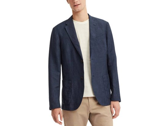 Uniqlo MEN LINEN COTTON SLIM-FIT JACKET