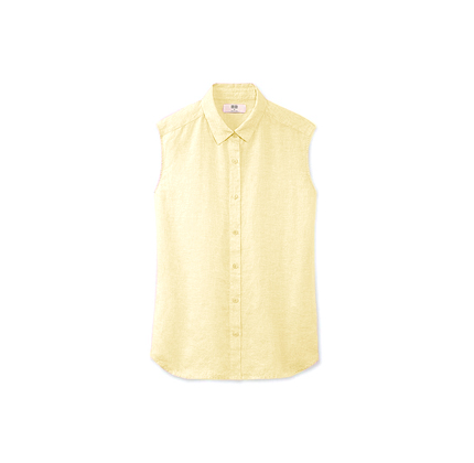 Uniqlo WOMEN PREMIUM LINEN SLEEVELESS SHIRT