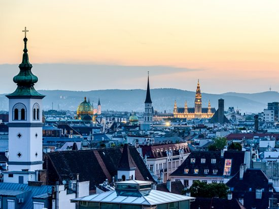 Vienna Austria Sunset City View