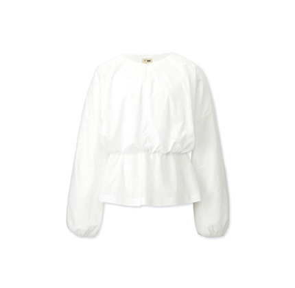 Uniqlo WOMEN GATHERED LONG-SLEEVE BLOUSE (HANA TAJIMA)