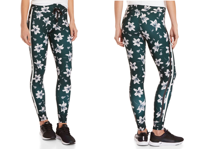 AVEC LES FILLES  Scattered Lily Printed Leggings.