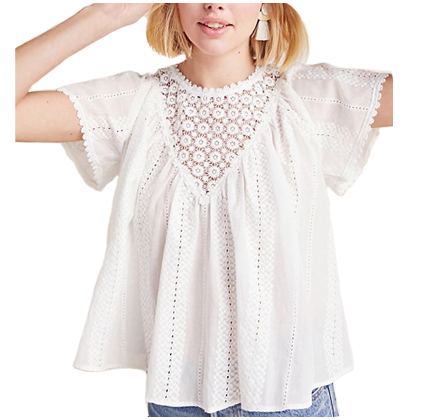 Anthropologie Serene Eyelet Blouse