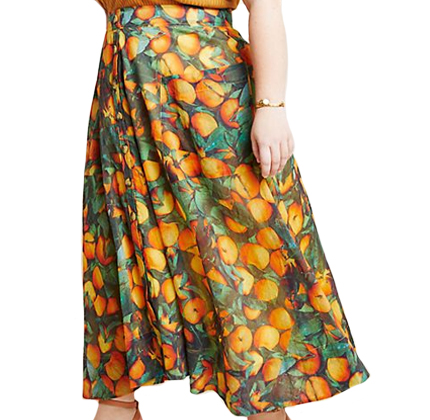 Anthropologie Summer Orchard Skirt