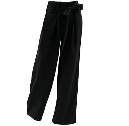 Asos Warehouse wide leg pants in black.