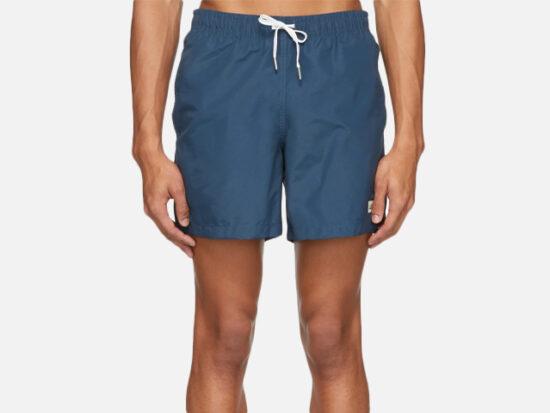 Bather Navy Solid Swim Shorts.