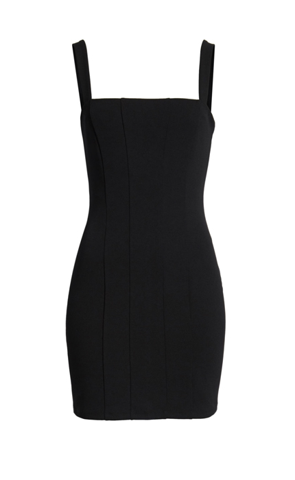 Seamed Body-Con Dress LEITH in Black.