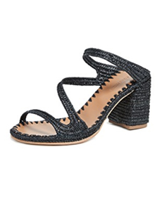 Carrie Forbes Salah Heeled Mules in black.