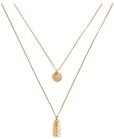 Coin and tag layering necklace j.crew