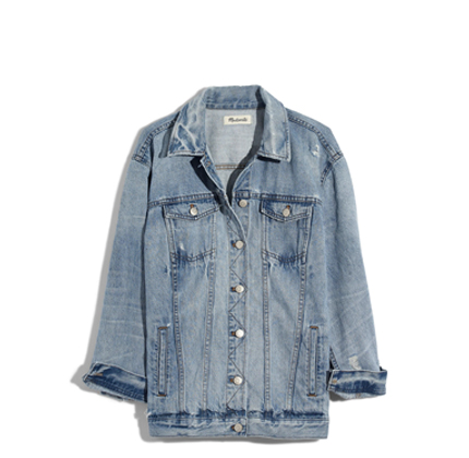 Distressed Oversize Jean Jacket MADEWELL.