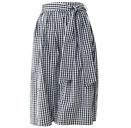 Forever21 Belted Gingham Skirt