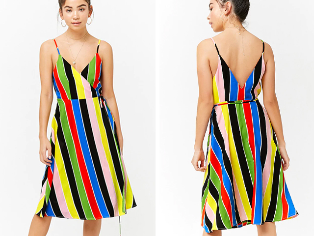Forever21 Striped Wrap Dress.
