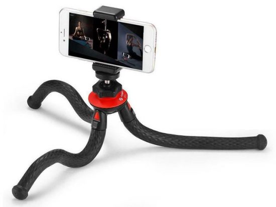 FotoPro UFO 2 Flexible Tripod with Smartphone and GoPro Adapter.