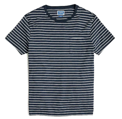 J.Crew Slim Broken-in striped pocket T-shirt.