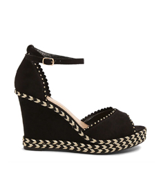 Metallic-Thread Espadrille Wedges Forever21