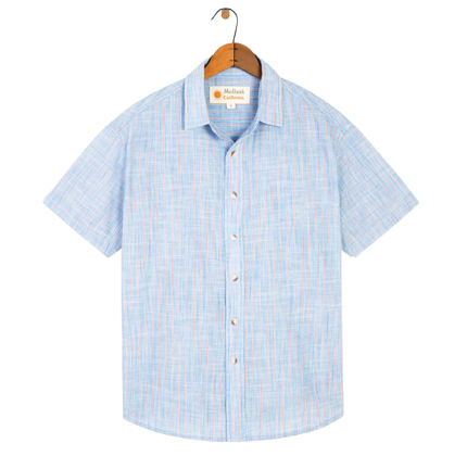 Mollusk Striped Short Sleeve Summer Shirt.