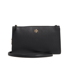 Pebbled Leather Top Zip Crossbody Bag TORY BURCH