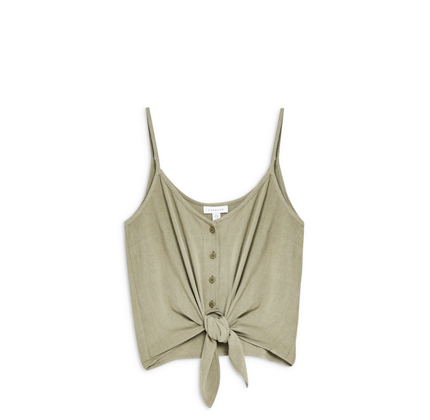 Polly Tie Front Camisole TOPSHOP