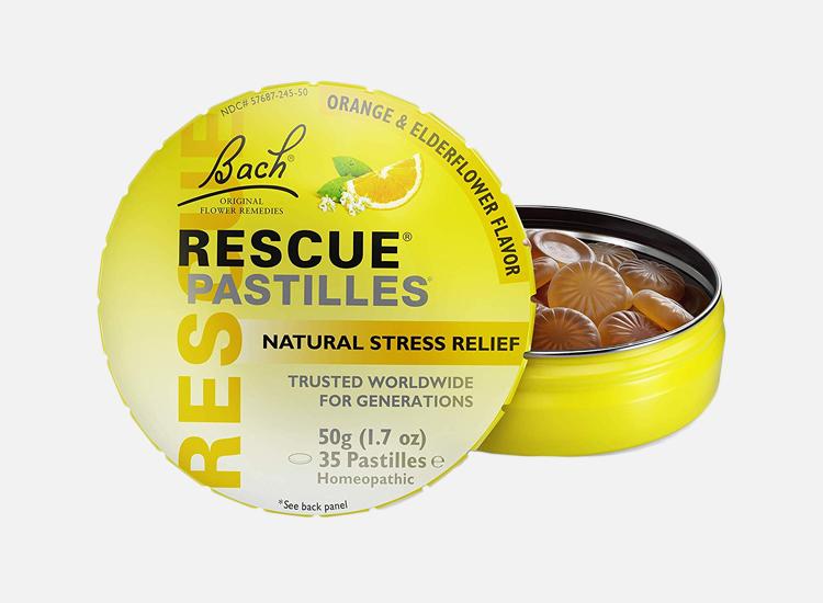 RESCUE PASTILLES, Homeopathic Stress Relief, Natural Orange & Elderflower Flavor.