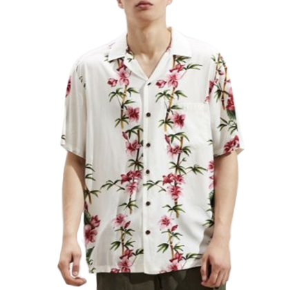 RJC Hawaii Aloha Rayon Short Sleeve Button-Down Shirt.