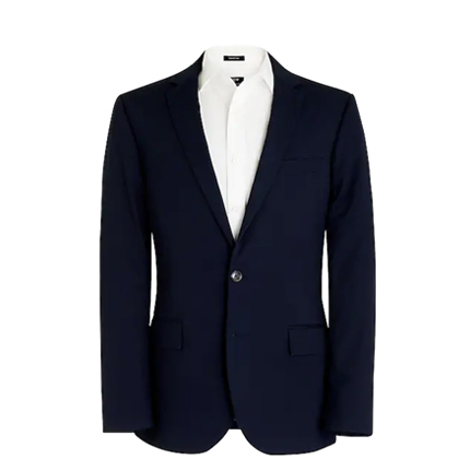 Slim-fit Thompson suit jacket in flex chino