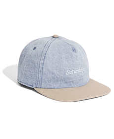 Stanley Italic Denim Snap Hat Washed Indigo.