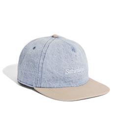 Stanley Italic Denim Snap Hat Washed Indigo.