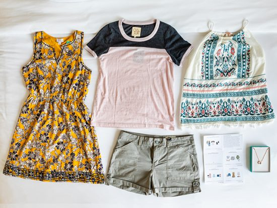 Stitch Fix Flat-Lay of the Unboxed Clothing.