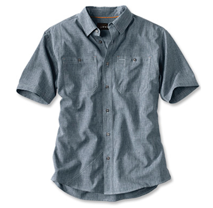 TECH CHAMBRAY SHORT-SLEEVED WORK SHIRT