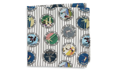 Tennis Player Silk Pocket Square ETON