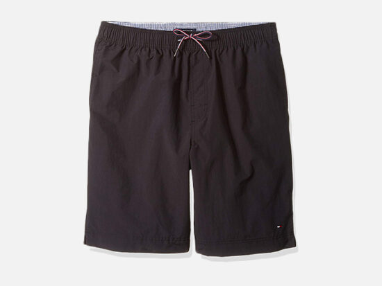 """Tommy Hilfiger Big and Tall Men's 9.5"""" Tommy Swim Trunks."""