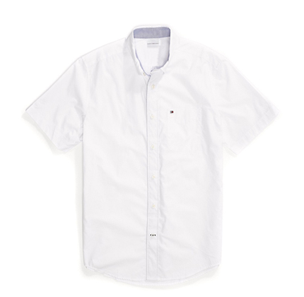 Tommy Hilfiger Maxwell Short Sleeve Button Down Shirt.