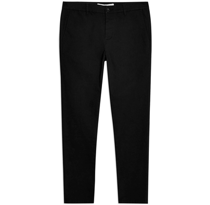 Topman Black Stretch Skinny Chinos