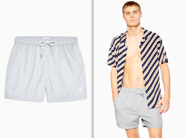 Topman Grey Swim Shorts.