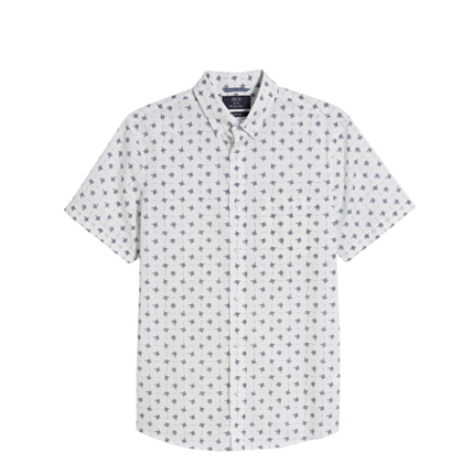 Trim Fit Short Sleeve Button-Down Sport Shirt 1901