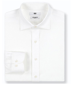 Uniqlo MEN SUPER NON-IRON SLIM-FIT LONG-SLEEVE SHIRT