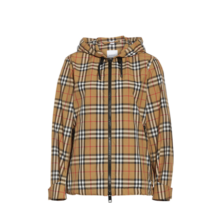Winchester Vintage Check Hooded Rain Jacket BURBERRY