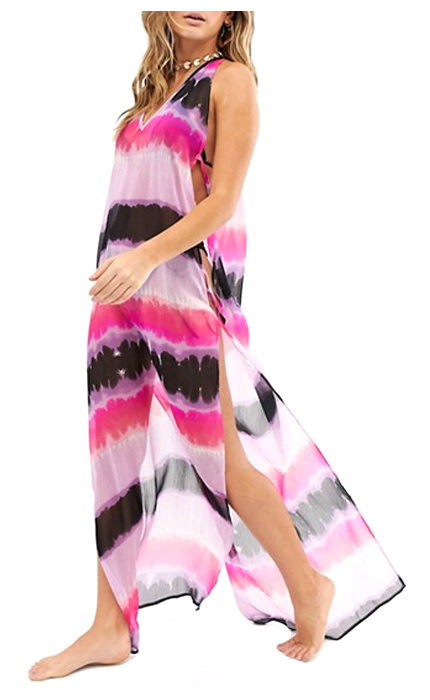 ASOS Maxi Beach Dress in Tie-Dye.