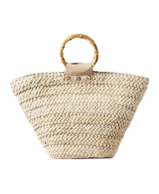 Anthropologie Alexa Ring Handle Tote Bag.