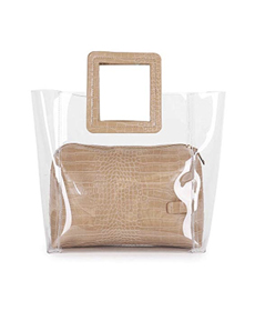 Barabum FANCY LOVE Classy Waterprof Clear Tote Beach Shoulder Crossbody Bag.