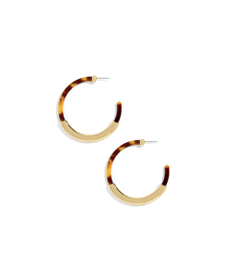 Baublebar TASSIANA RESIN HOOP EARRINGS.