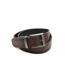 COLUMBIA DOUBLE STITCHED REVERSIBLE MEN'S LEATHER BELT.