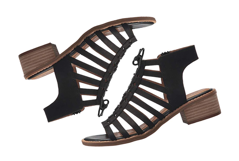 Comfortiva Blossom Sandals in Black.