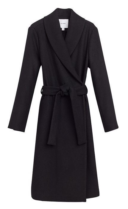 Cuyana Soft Wrap Coat.