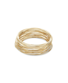 Design Lab Goldplated Multi-Row Bracelet.