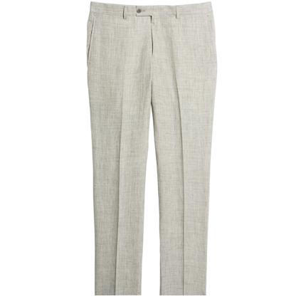 Flat Front Mélange Linen Trousers NORDSTROM MEN'S SHOP.